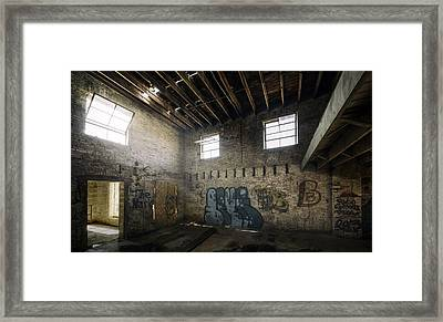 Old Warehouse Interior Framed Print