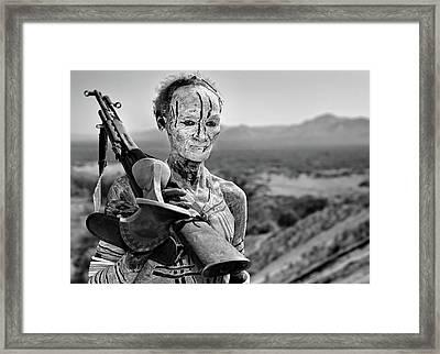 Old Warrior Framed Print