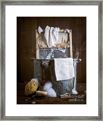 Old Wash Tub Framed Print by Edward Fielding