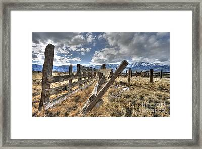 Old Washoe Corral Framed Print by Dianne Phelps