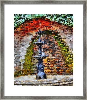 Old Water Fountain Framed Print by Dan Sproul