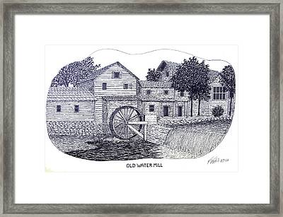 Old Water Mill Framed Print by Frederic Kohli