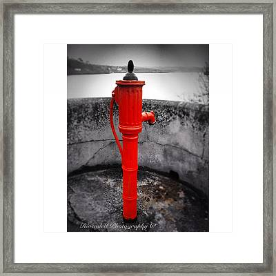 Old Water Pump Kinsale Framed Print by Maeve O Connell