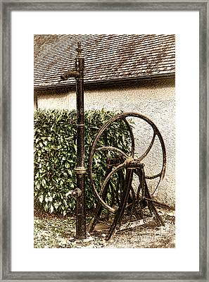 Old Water Pump Framed Print by Olivier Le Queinec