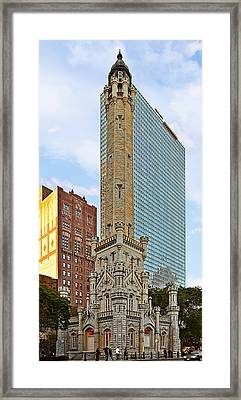Old Water Tower Chicago Framed Print by Christine Till