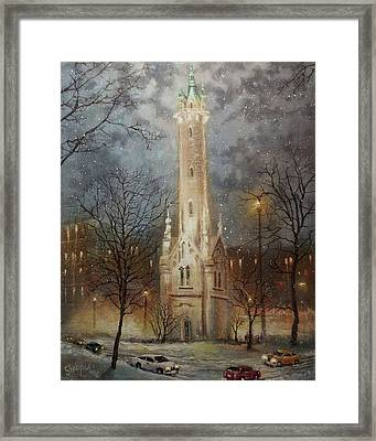Old Water Tower Milwaukee Framed Print by Tom Shropshire