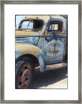 Old Water Truck Framed Print