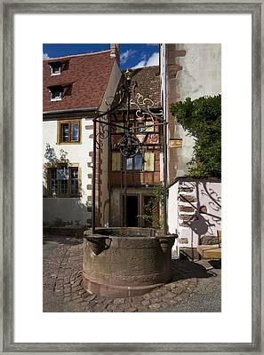 Old Water Well Framed Print