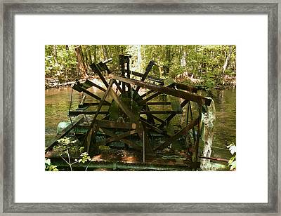 Old Waterwheel Framed Print by Cathy Harper