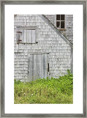 Old Weathered Building In Maine Framed Print by Keith Webber Jr