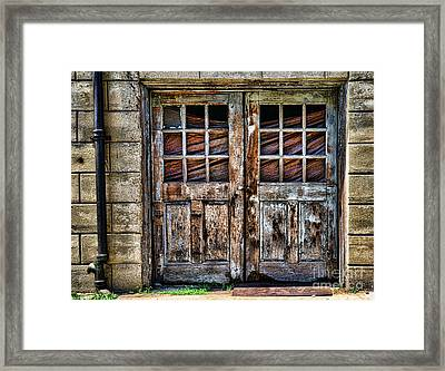 Old Weathered Doors Framed Print by Paul Ward