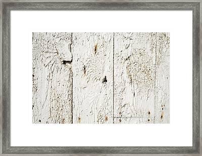 Old Weathered Wood Framed Print by Ken Welsh