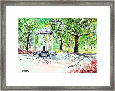 Old Well Chapel Hill Framed Print