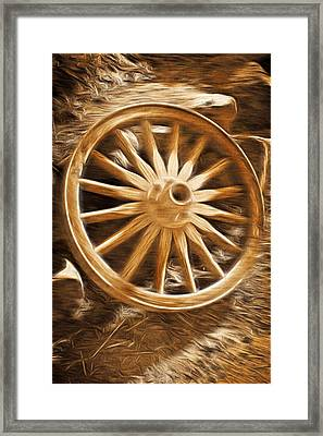 Framed Print featuring the photograph Wheels West by Aaron Berg