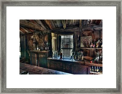 Old West Bar - Criterion Saloon Framed Print by Daniel Hagerman