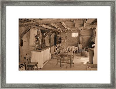 Old West Cabin Framed Print