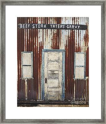 Old West Cafe Framed Print by Betty LaRue