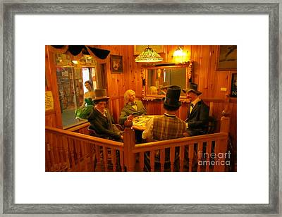 Old West Card Game Framed Print by John Malone