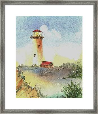 Old West Coast Lighthouse Framed Print