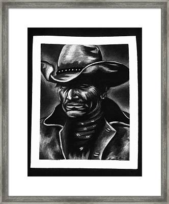 Old West Cowboy Framed Print by Sheena Pape