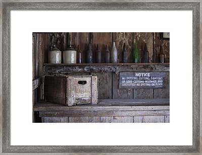 Old West Days Framed Print