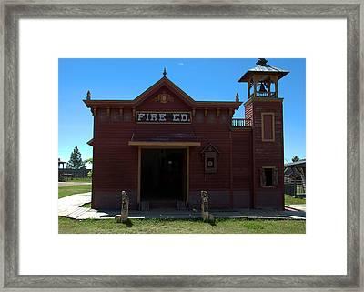 Old West Fire Station Framed Print