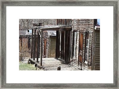 Old West Framed Print by Mark Eisenbeil