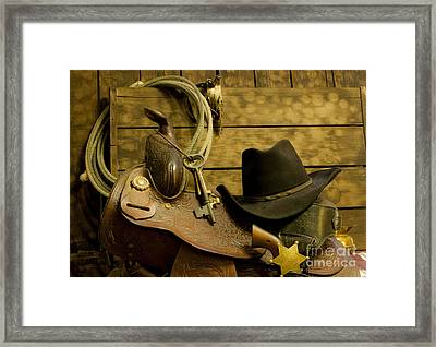 Old West Marshal Framed Print by Ronald Hoggard