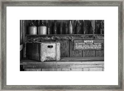 Old West Saloon Framed Print