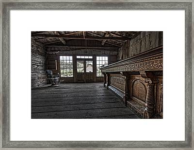 Old West Saloon Bar -- Bannack Ghost Town Montana Framed Print by Daniel Hagerman