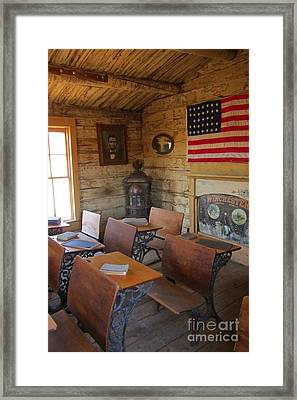Old West School House Framed Print by John Malone
