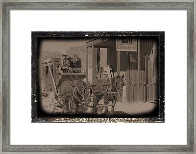 Old West Stagecoach Framed Print