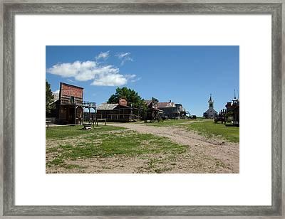 Old West Town Framed Print