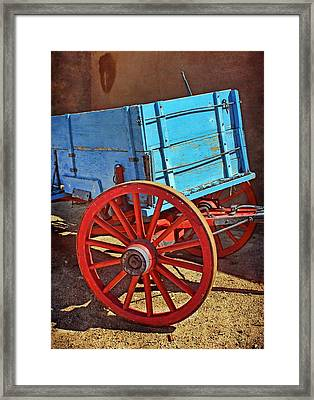 Old West Wagon Framed Print by Nikolyn McDonald