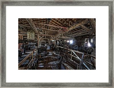 Old West Wagon Storage And Shop Framed Print by Daniel Hagerman