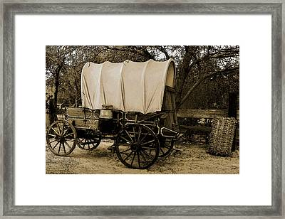 Framed Print featuring the mixed media Old Western by Elaine Malott