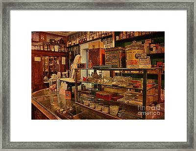 Old Western General Store Counter Framed Print by Janice Rae Pariza