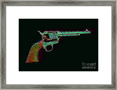 Old Western Pistol - 20130121 - V1 Framed Print by Wingsdomain Art and Photography