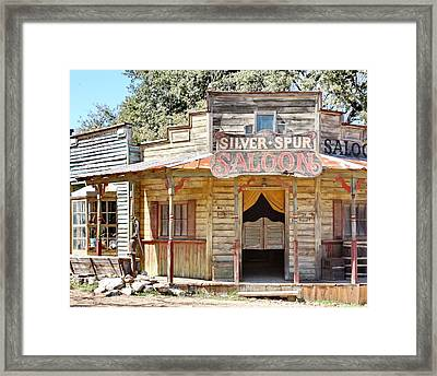 Old Western Saloon Framed Print