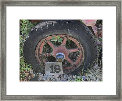 Old Wheel Framed Print