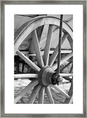 Old Wheel Framed Print by Falko Follert