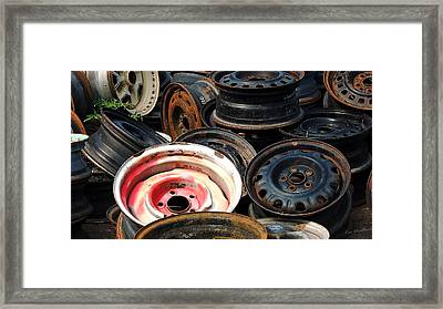 Old Wheels Framed Print