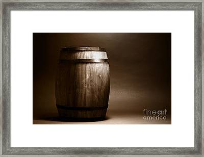 Old Whisky Barrel Framed Print