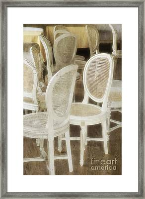 Old White Chairs Framed Print by Carlos Caetano