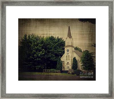 Old White Church Framed Print by Perry Webster