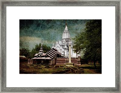 Old Whitewashed Lemyethna Temple Framed Print by RicardMN Photography