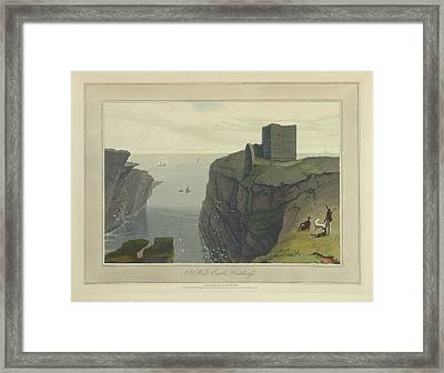 Old Wick Castle In Caithness Framed Print by British Library