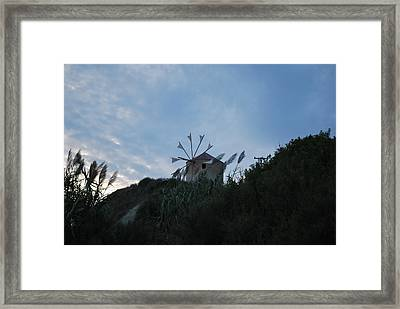 Old Wind Mill 1830 Framed Print by George Katechis