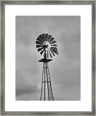 Old Windmill Framed Print by Dan Sproul