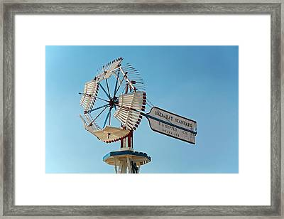 Old Windmill Framed Print by Jim West